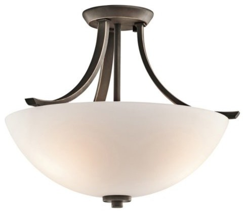 Kichler 42563OZ Granby 3-Light Semi-Flush Mount - Bronze contemporary-ceiling-lighting