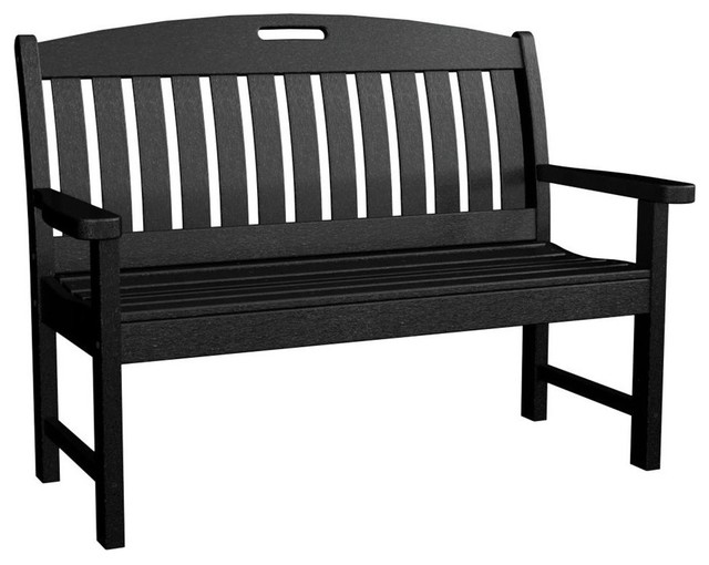 Eco Friendly Bench In Black Contemporary Outdoor Benches By Ivgstores