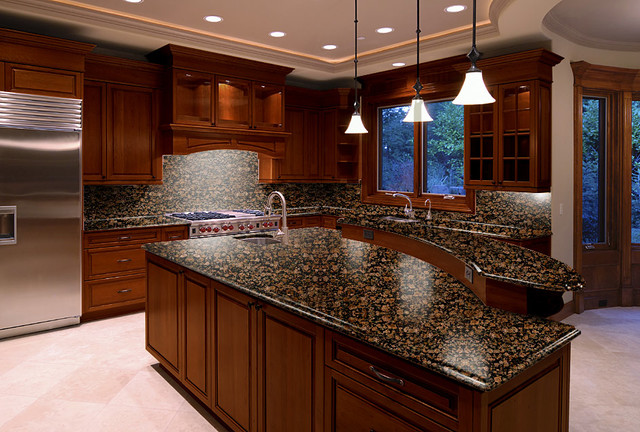 kichens baltic brown - Traditional - Kitchen Countertops - boston - by LG DESIGN STONE