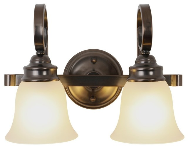 Two Light 15.5 Inch Vanity Fixture