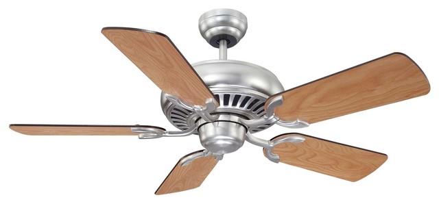 "Savoy House Lighting 42-SGC-5RV-SN Pine Harbor 42"" Transitional Ceiling Fan transitional-ceiling-fans"