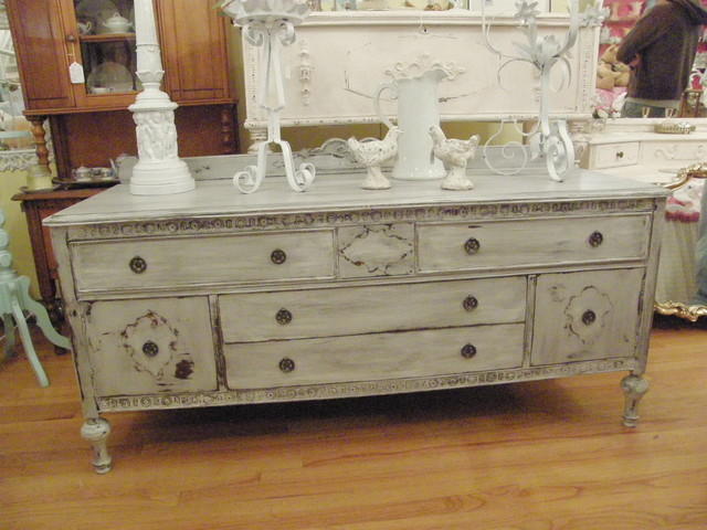 antique buffet flat screen tv media unit french gray distressed eclectic buffets and sideboards