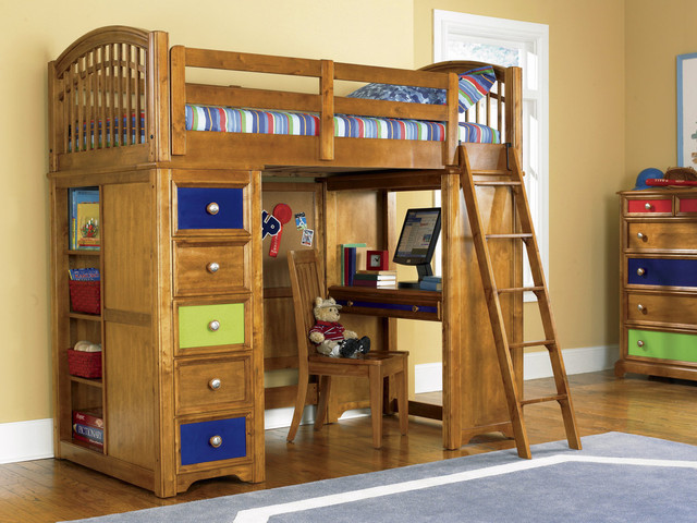 Bearrific Loft Drawer and Desk Bunk Bed - Contemporary - Loft Beds ...