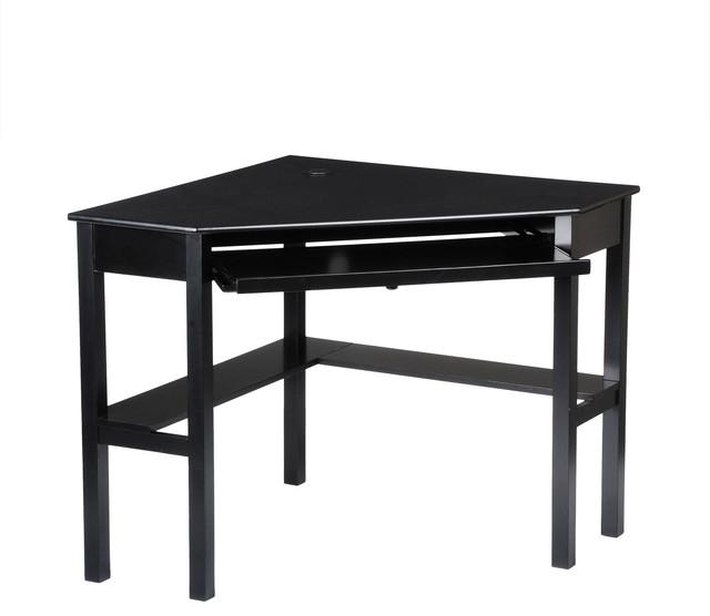 Alexander Corner Computer Desk, Black - Contemporary - Desks And