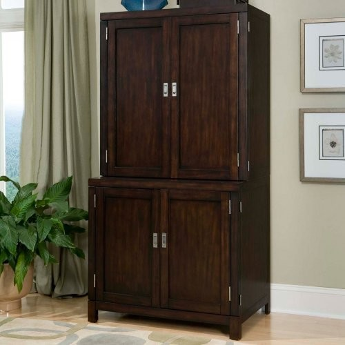 Home Styles City Chic Compact Office Cabinet & Hutch