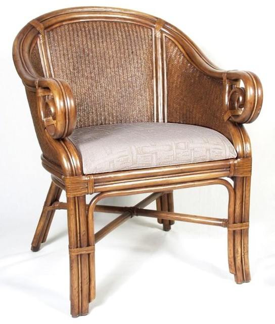 sunset reef indoor rattan wicker club chair contemporary armchairs