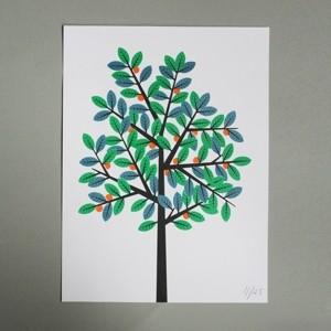 Summer Tree Riso Print contemporary-artwork