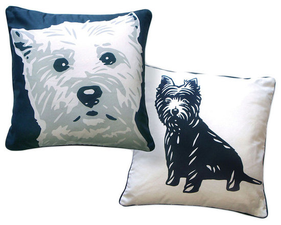 Naked Decor West Highland Terrier Reversible Pillow