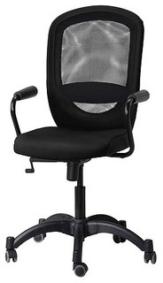 vilgot nominell swivel chair with armrests black ikea
