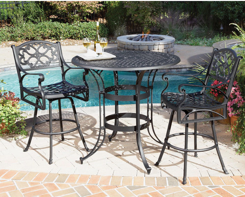 Biscayne 3 Piece Bar Height Dining Set - modern - patio furniture ...