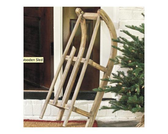 Ballard Designs - Suzanne Kasler Wooden Sled | Holiday Accessories | Ballard Designs -