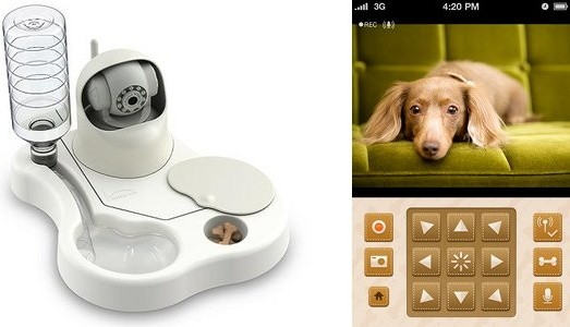 Home Electronics Remoca Dog Food Bowl Camera