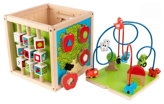 Bead Maze Cube - KidKraft Furniture - 63243 contemporary-kids-toys