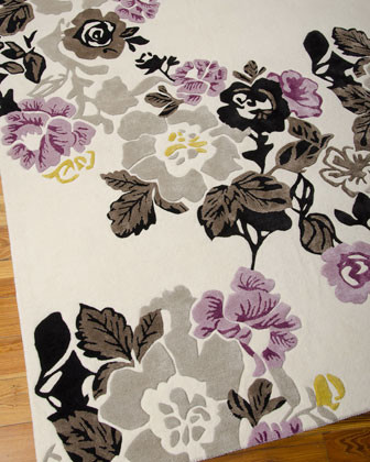 """Lilac Fiesta"" Rug traditional-rugs"