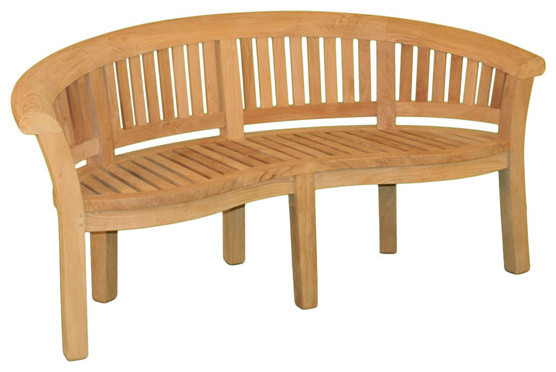 Half Moon Bench traditional-outdoor-benches