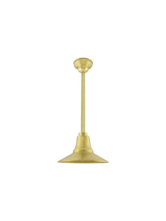 The Astro Brass Stem Mount Pendant -
