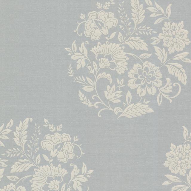 Platinum (Decorline) Floral Motif Wallpaper transitional-wallpaper