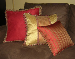 Custom design cushions/silk eclectic accessories and decor