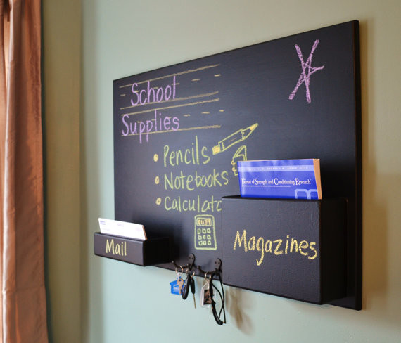 Small Mail Organizer Chalkboard - Contemporary - Bulletin Boards And Chalkboards - philadelphia ...