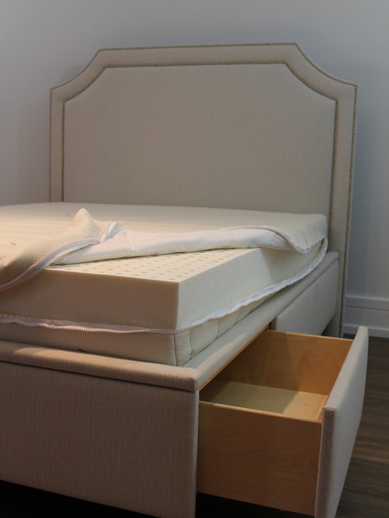 Beds and Headboards - Custom made  bed.  Photo cred: Decor Studio