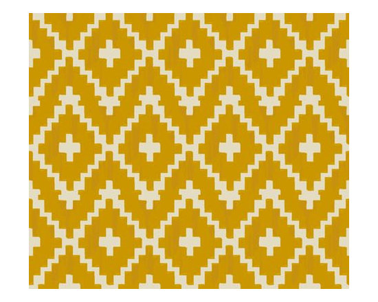Fitted Crib Sheet, Southwest Diamond Mustard by Iviebaby -