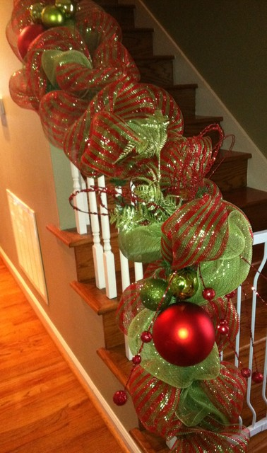 Decorated Christmas Garlands With Lights Christmas