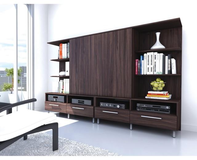 Sonax EN-9188 Contemporary Ebony Pecan Entertainment Unit - Modern - TV Stands & Units - by Amazon