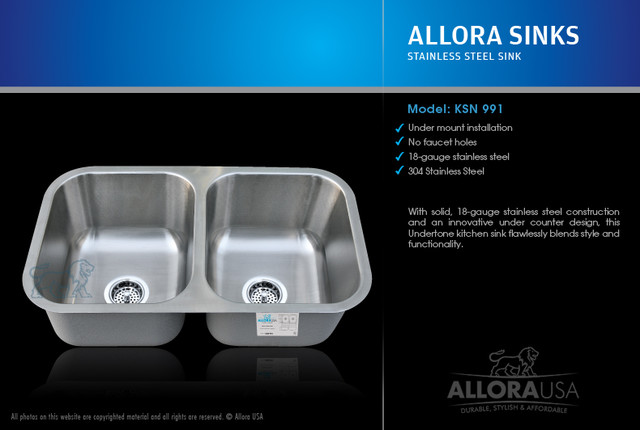 Allora Kitchen Sink KSN-991 contemporary-kitchen-sinks