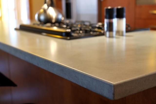 Concrete Counter Tops Contemporary Kitchen Countertops St Louis By Customcrete Inc