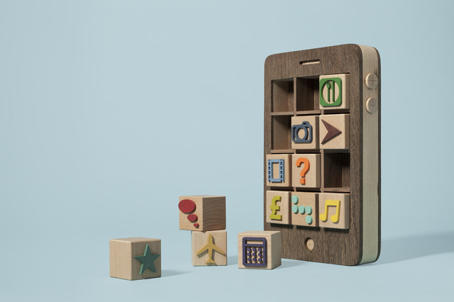 Wooden iPhone by Kyle Bean modern kids toys