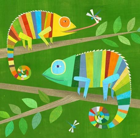 Rainbow Jungle Themed Kid's Room contemporary-kids-decor