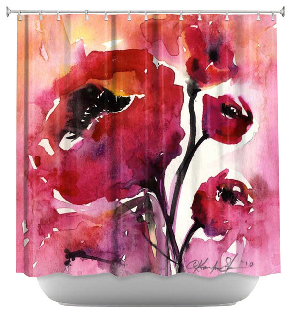 Shower Curtain Artistic - Floral 17 contemporary-shower-curtains
