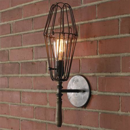 Small Industrial Chic Work Light Sconce eclectic wall sconces