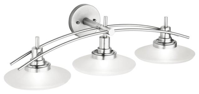 """Structures Nickel 30"""" Wide Bathroom Light Fixture"""