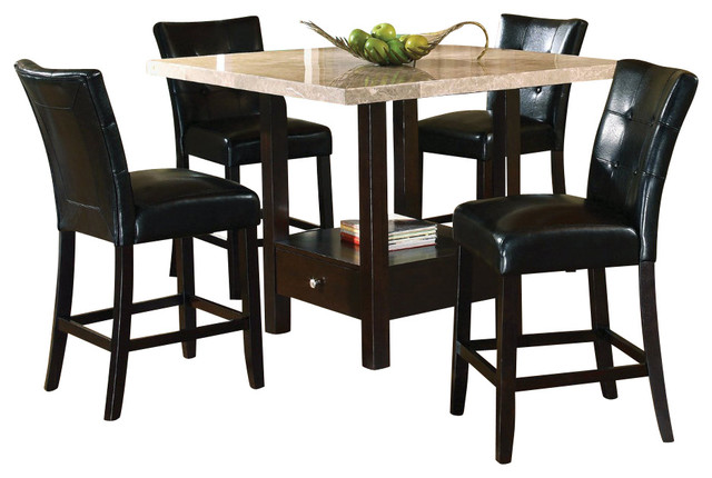 Steve Silver Monarch 5 Piece Marble Top 48x48 Counter