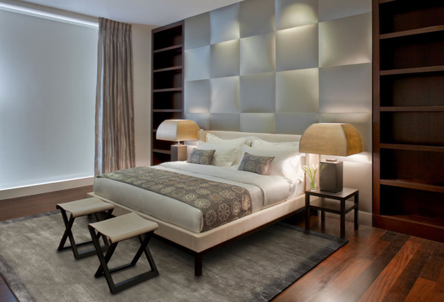 Upholstered Bed Frame and Headboard - Modern - Beds - new york - by Aguirre Design