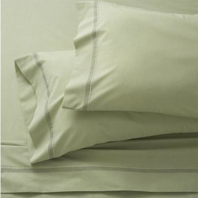 Chambray Green Full Sheet Set contemporary-sheets