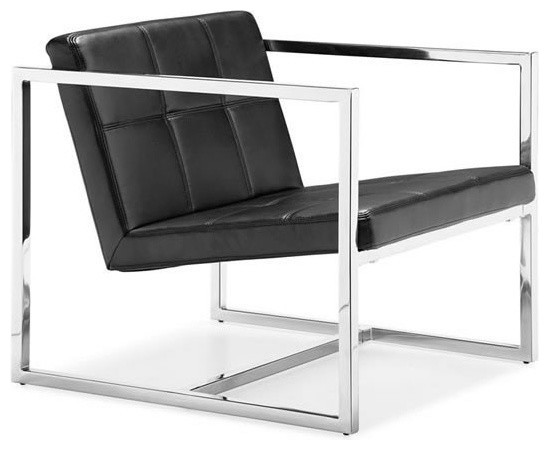 Modern black lounge chair Carbon modern-armchairs-and-accent-chairs