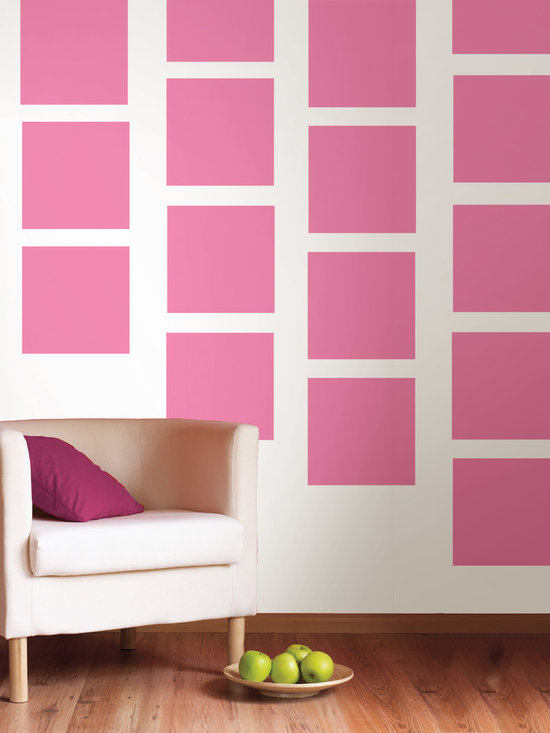 """Flirt Blox Set of Wall Decals - Who says girls don't like pink? Flirt, the perfect pink...not too bright not too hot! This pack comes with twenty 13"""" Flirt pink blox. All WallPops are repositionable and always removable."""