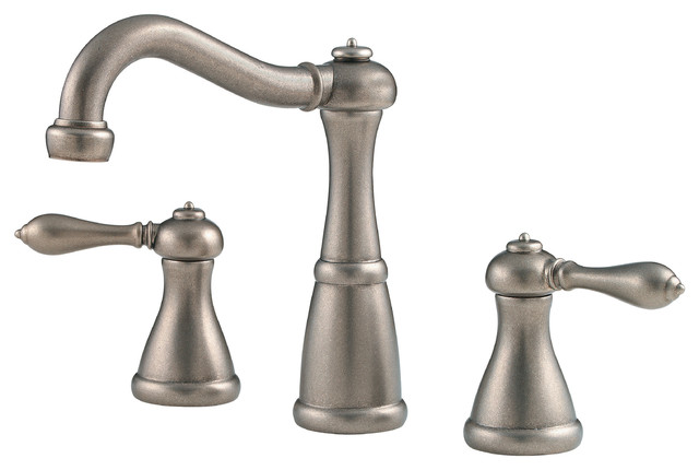 Price Pfister 224277 Marielle 8 Inch Widespread Bathroom Faucet In Rustic Pewter Traditional