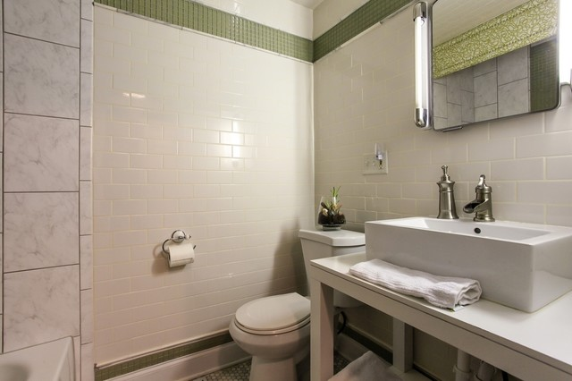 1920's house in Belmont area traditional-bathroom