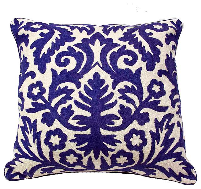Moroccan Pillow, Royal Blue - Mediterranean - Decorative Pillows - by De-cor