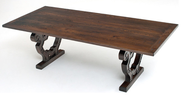 World Style Dining Table - Trestle Base - Design #1 - Dining Tables ...