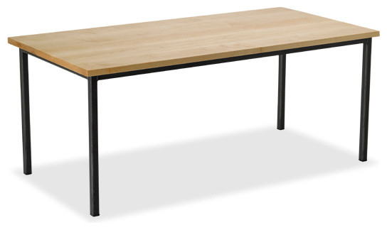 Maple s metal dining table 1 5 legs seats 10 42 x for 108 table seats how many