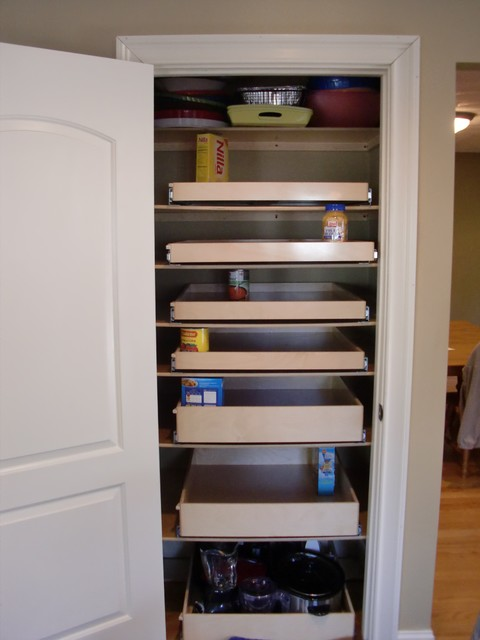 closet walk in pantry slide out shelves boston by. Black Bedroom Furniture Sets. Home Design Ideas