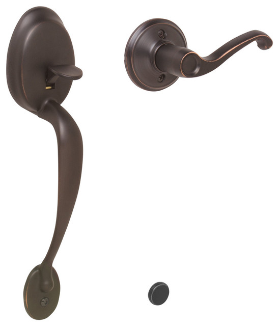 schlage plymouth half handleset w flair lever right hand