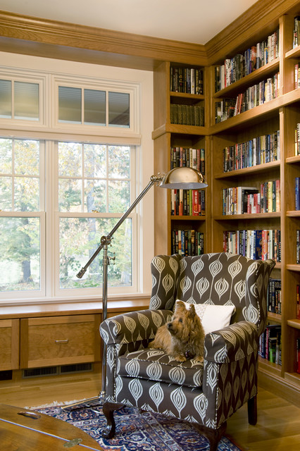 Forest View Residence Library traditional