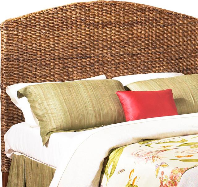 Wicker Seagrass King Headboard tropical-headboards