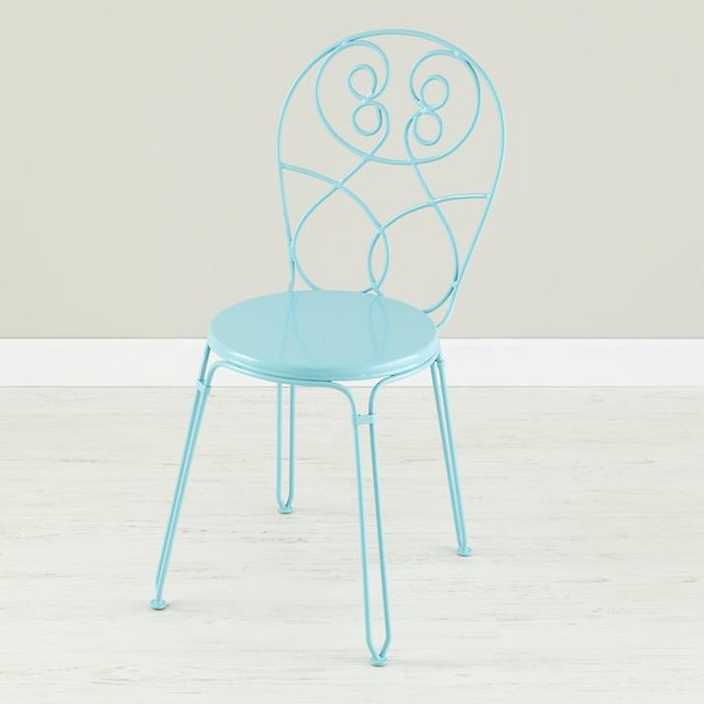 Looking Glass Desk Chair, Azure - contemporary - kids chairs - by