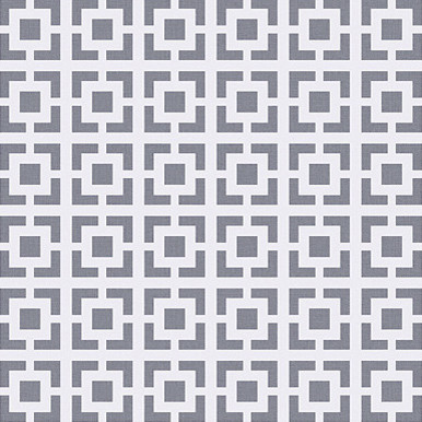 Square Lattice Wallpaper in Metallic Grey contemporary wallpaper